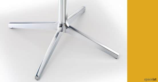 Ypsilon polished aluminium cafe table base