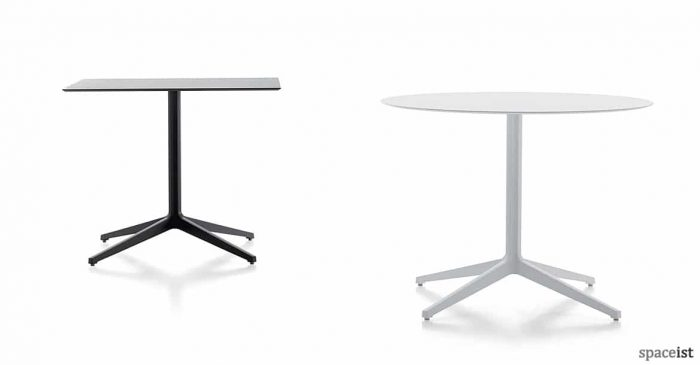 Ypsilon white black outdoor cafe table