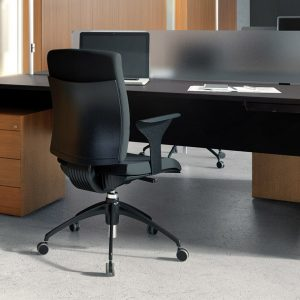 Forty5 designer black office desk