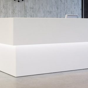 Forty5 reception desk with LED down light