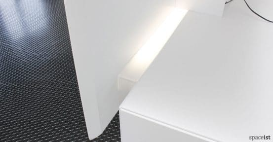 Forty5 reception desk LED light
