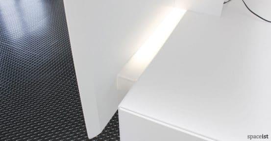 Forty5 reception desk LED light
