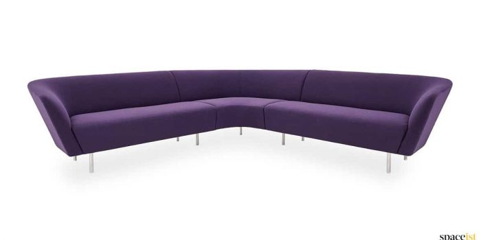 Velvet purple corner sofa