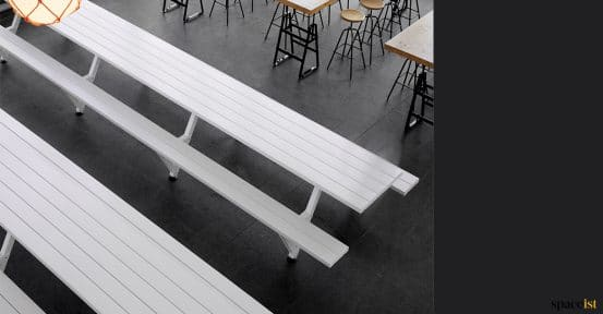 Designer picnic table for cafes - Marina