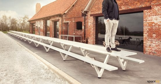 Very long outdoor picnic bench - Marina