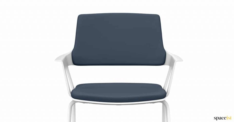 blue and white modern meeting chair