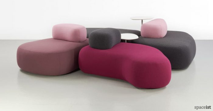 Pink and pruple office sofa