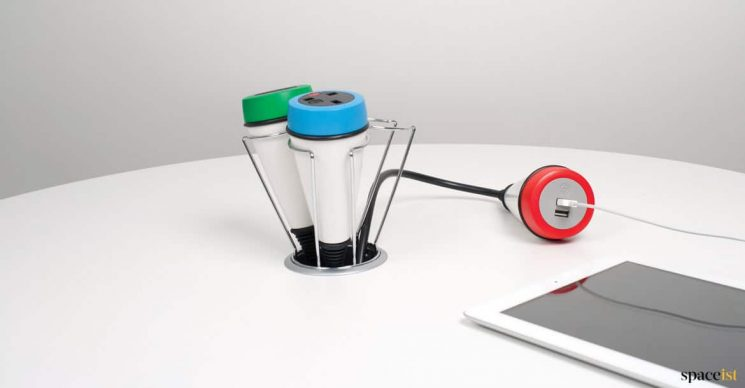 Flexible USB charger for desk