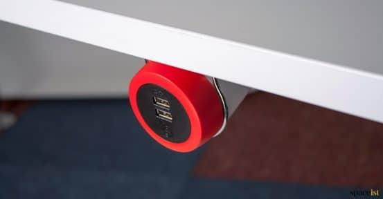 Under desk USB socket