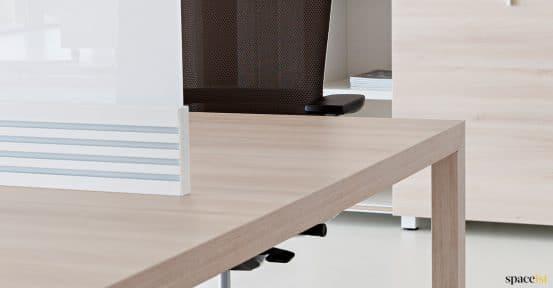 Oak bench desk