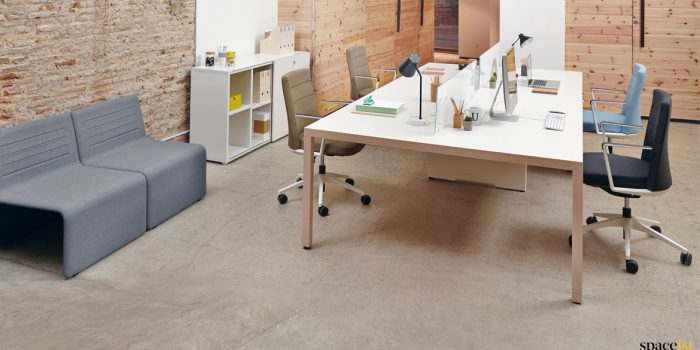 Designer oak four person desk