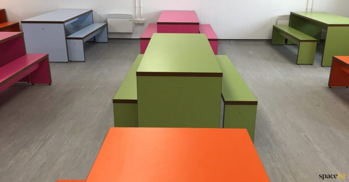 School cantenn tables in colours