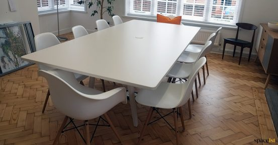White meeting table large