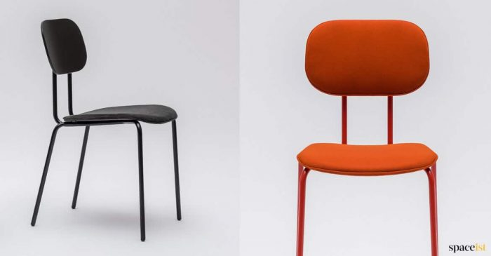 Black + orange meeting room chair retro