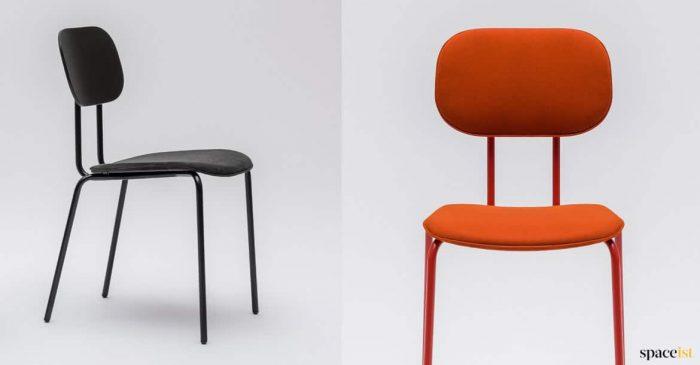 Black + orange meeting room chair retro