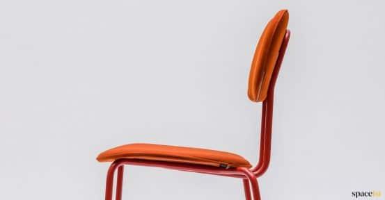 Orange chair closeup