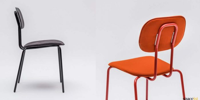 School black red cafe chair