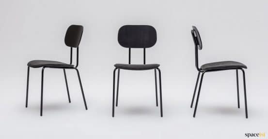 Modern cafe chair with black seat