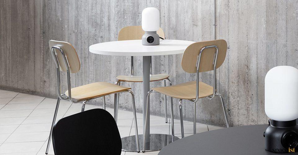 Plywood cafe chair chrome