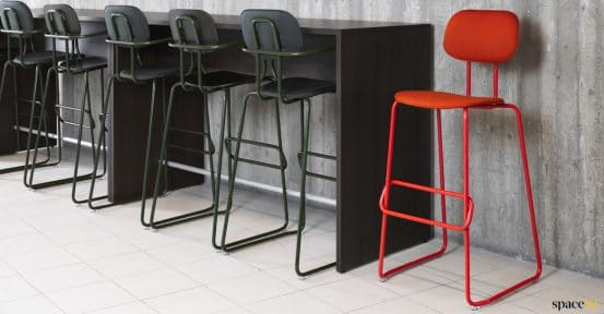 School red cafe stool