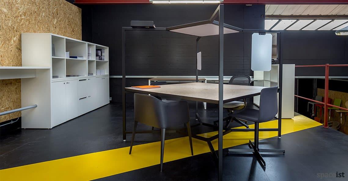 Spaceist showroom black office desk 1