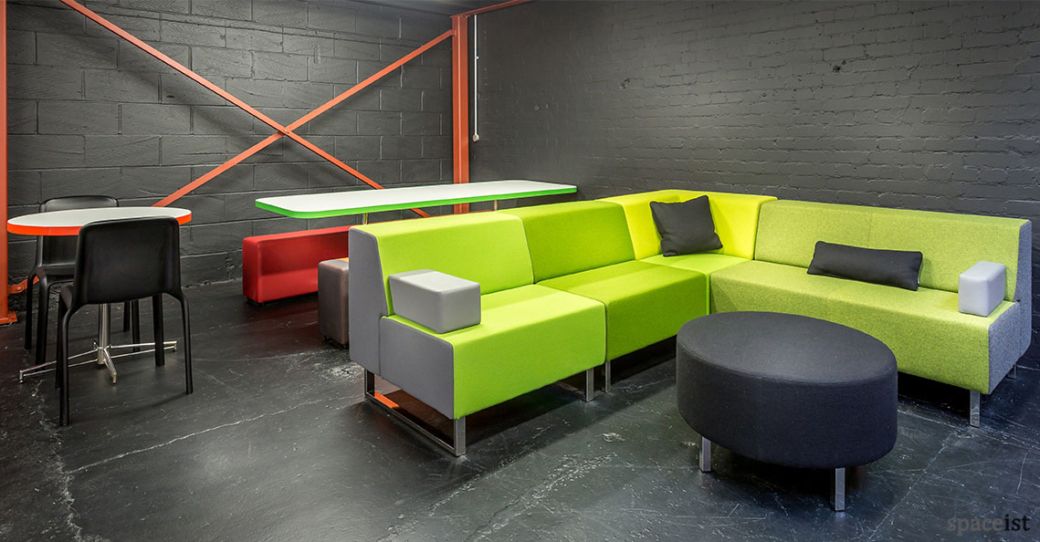 Spaceist showroom green reception sofa