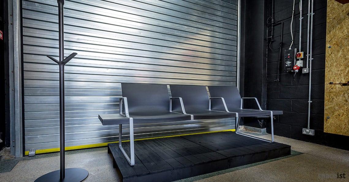 Spaceist showroom reception bench