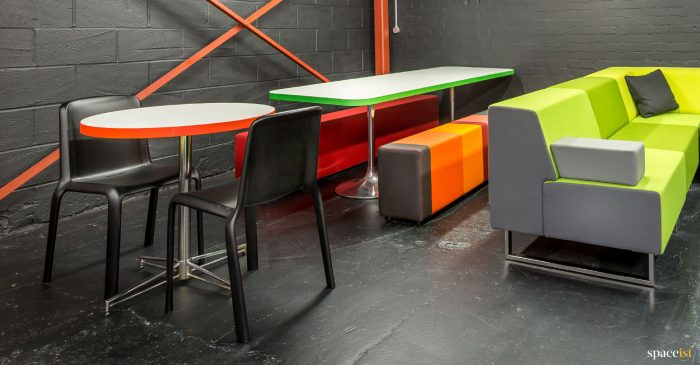 spaceist showroom stripey bench