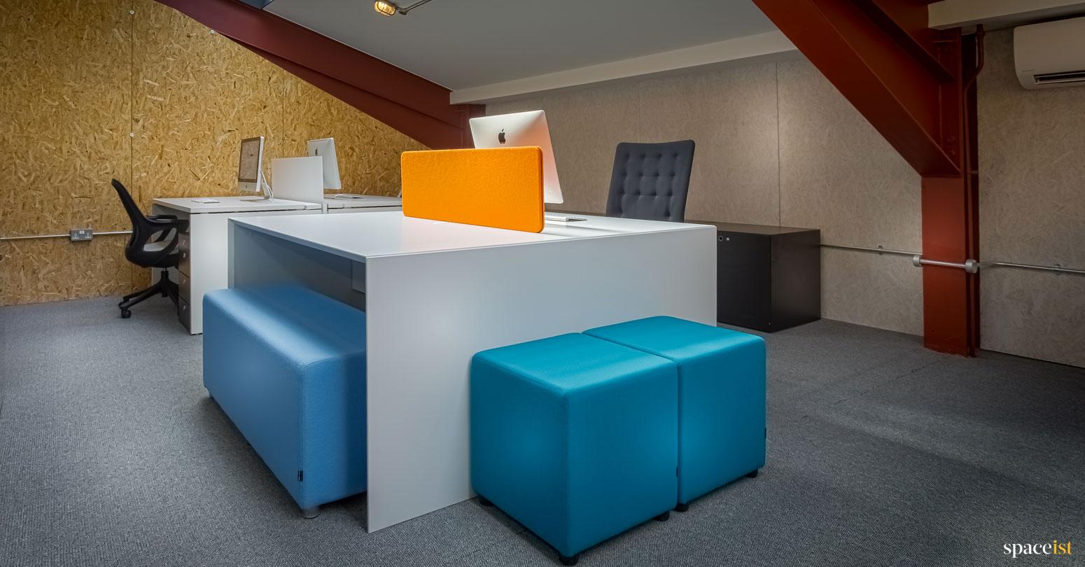 spaceist showroom white office desks