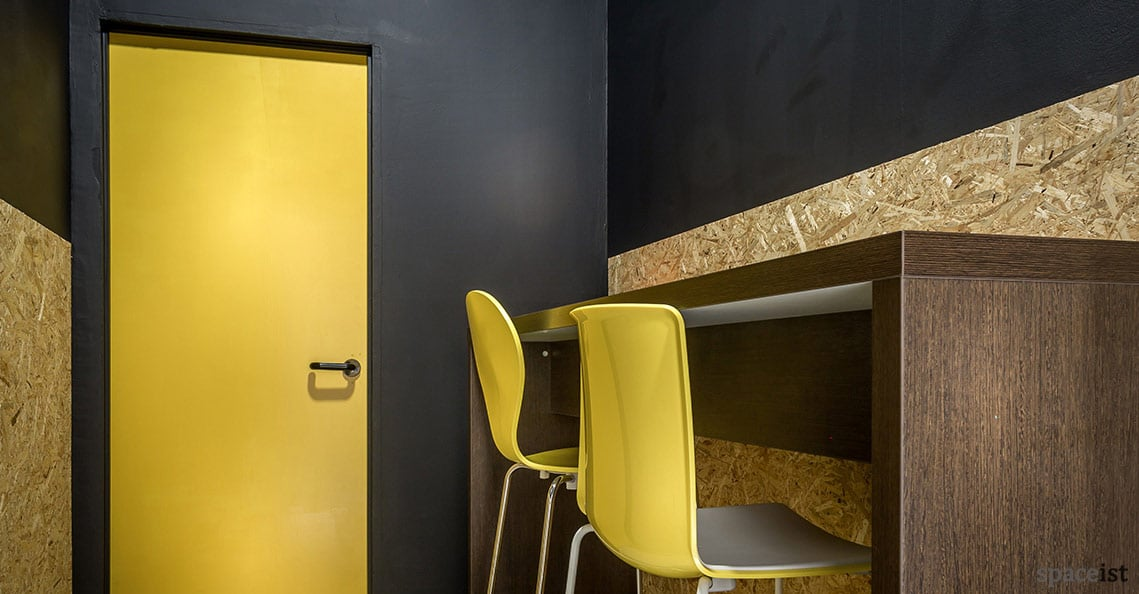 Spaceist showroom yellow furniture