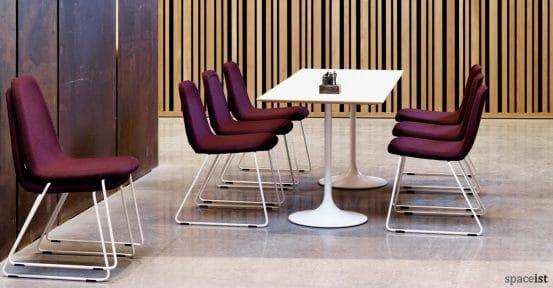 Sport purple meeting room chair