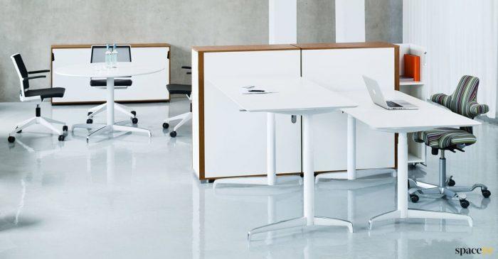 White high desk