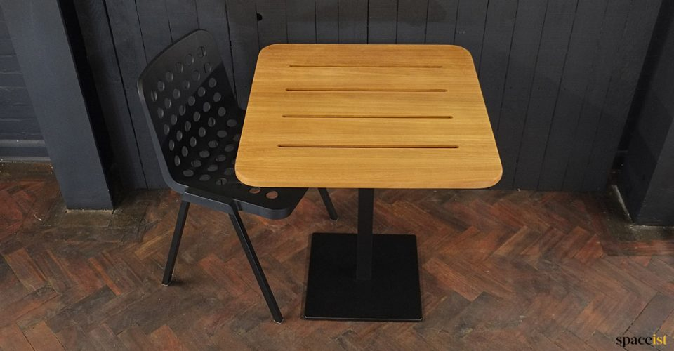 Teak outdoor cafe table