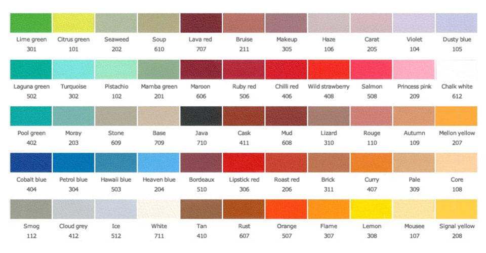 Spaceist vinyl colours