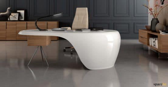 White star trek style desk
