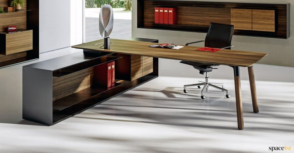 Executive desk walnut