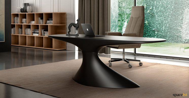 black futuristic desk