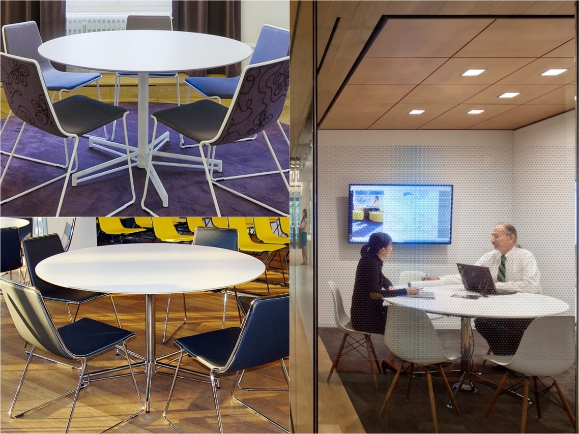 Spaceist X round table meeting room options blogpost