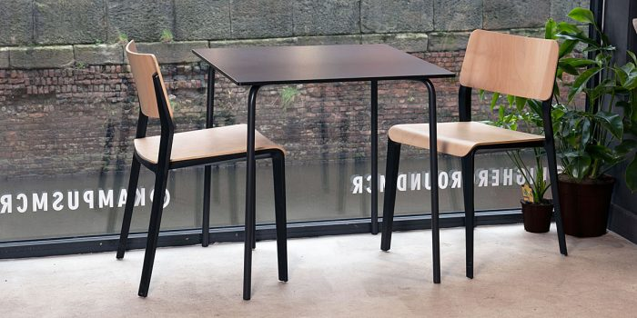 Square cafe tables