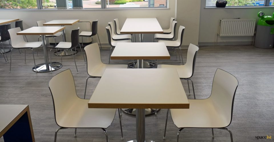 Staff cafe tables
