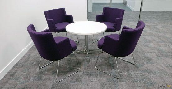 Staff breakout chairs purple