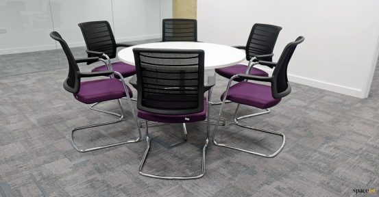 Staff breakout chairs with table