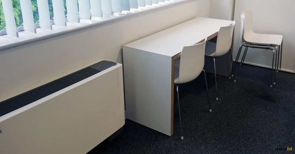 Wall table and chairs