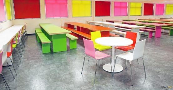 School colourful furniture