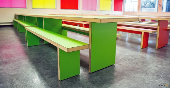 canteen table green