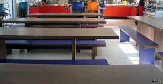dining hall tables dark wood