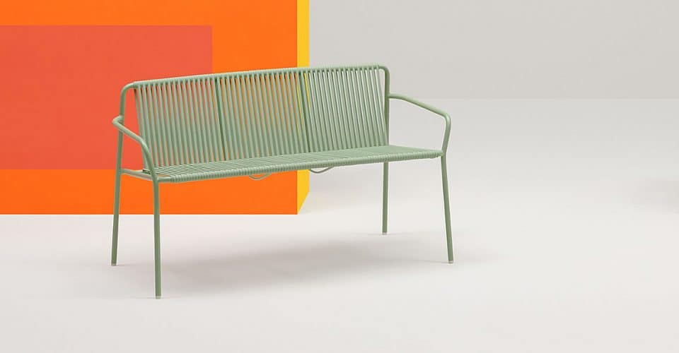 Green Outdoor Bench