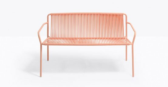 Pink Outdoor Bench