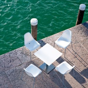 Types of cafe and bar seating that work well outside: