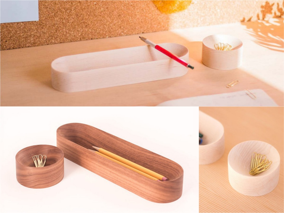 VTray and bowl desk accessories